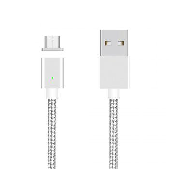 UNIVEL SyncNova Magnetic Micro USB Cable with Charging Indicator - SILVER SILVER
