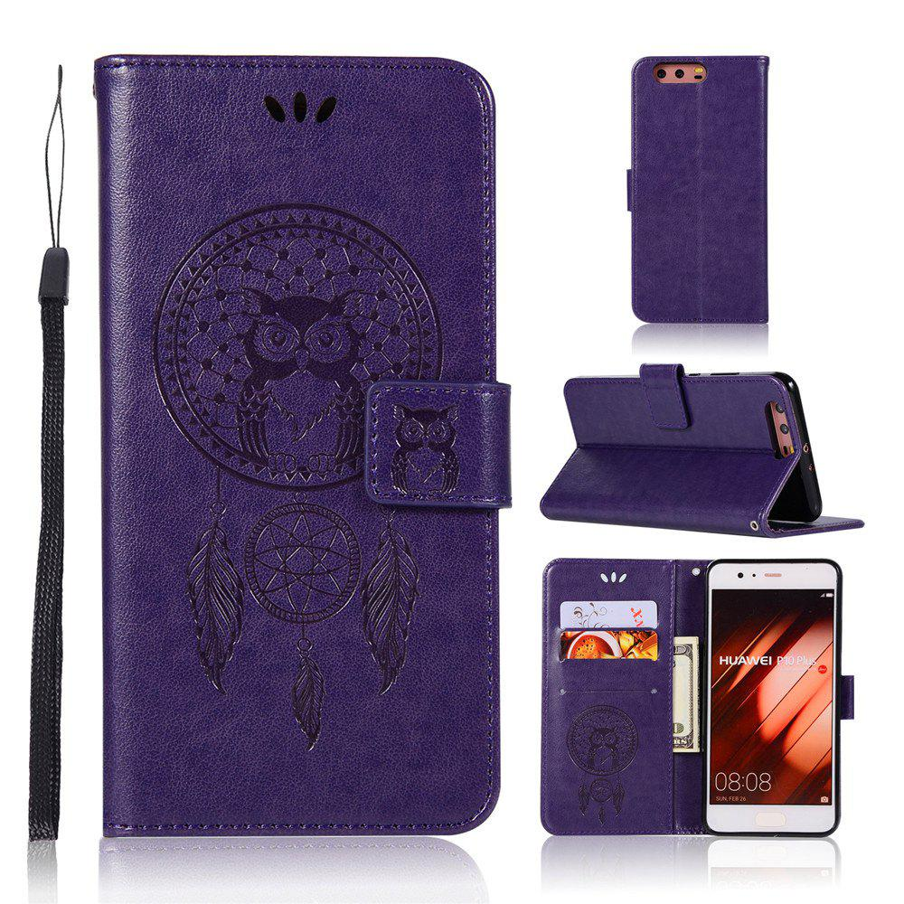 Owl Campanula Fashion Wallet Cover For Huawei P10 Plus Case PU Luxury Retro Flip Leather Case Phone Bag With Stand - TAHITI