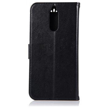 Owl Campanula Fashion Wallet Cover For Huawei Maimang 6 / Honor 9i Case PU Flip Leather Case Phone Bag With Stand - BLACK