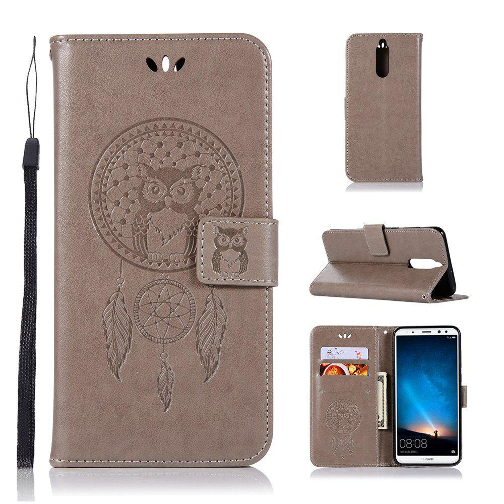 Owl Campanula Fashion Wallet Cover For Huawei Maimang 6 / Honor 9i Case PU Flip Leather Case Phone Bag With Stand - GRAY
