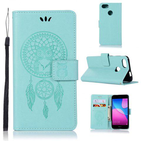 Owl Campanula Fashion Wallet Cover For Huawei Enjoy 7 Case PU Luxury Retro Flip Leather Case Phone Bag With Stand - IVY