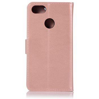 Owl Campanula Fashion Wallet Cover For Huawei Enjoy 7 Case PU Luxury Retro Flip Leather Case Phone Bag With Stand - ROSE GOLD