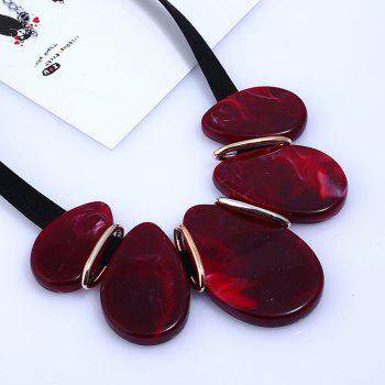 Fashion Collarbone Drops Necklace Jewelry Exaggerated Resin - RED