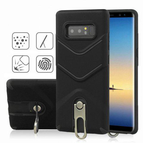 Kickstand Shock Proof Case For Samsung Galaxy Note8 Case Luxury Back Cases Cover - BLACK
