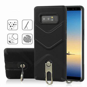 Kickstand Shock Proof Case For Samsung Galaxy Note8 Case Luxury Back Cases Cover - BLACK BLACK