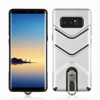 Kickstand Shock Proof Case For Samsung Galaxy Note8 Case Luxury Back Cases Cover - SILVER SILVER