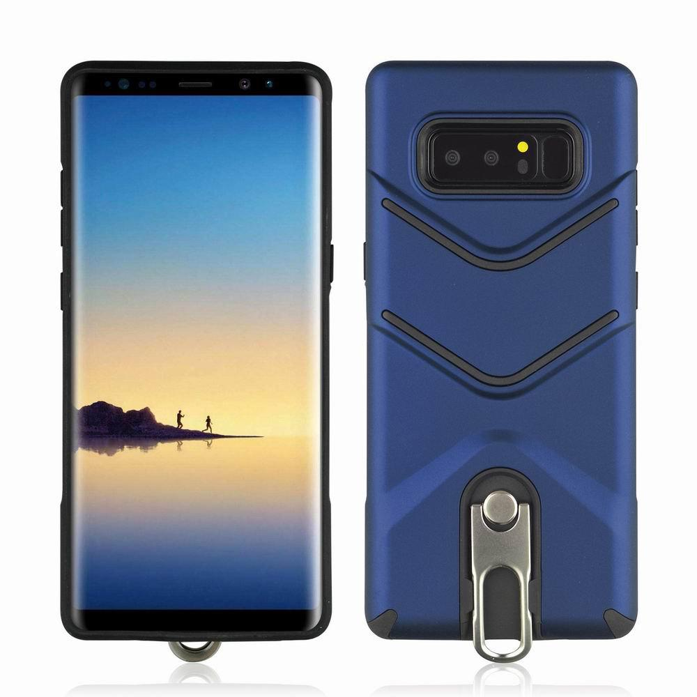 Kickstand Shock Proof Case For Samsung Galaxy Note8 Case Luxury Back Cases Cover - BLUE