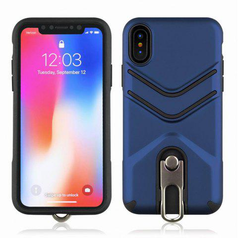 Kickstand Shock Proof Case For iPhone X Case Luxury Back Cases Cover - BLUE
