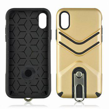 Kickstand Shock Proof Case For iPhone X Case Luxury Back Cases Cover -  GOLDEN