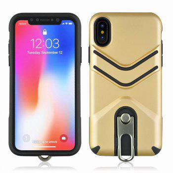 Kickstand Shock Proof Case For iPhone X Case Luxury Back Cases Cover - GOLDEN GOLDEN