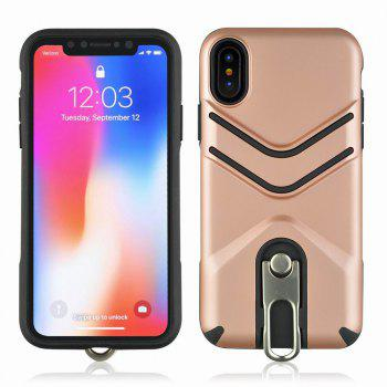 Kickstand Shock Proof Case For iPhone X Case Luxury Back Cases Cover - ROSE GOLD ROSE GOLD