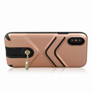 Kickstand Shock Proof Case For iPhone X Case Luxury Back Cases Cover - ROSE GOLD