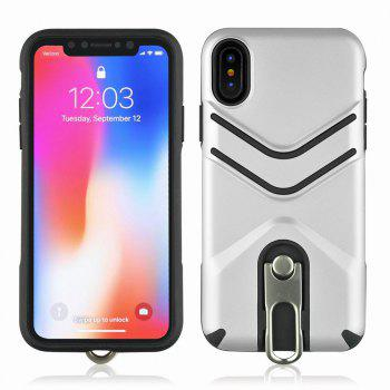 Kickstand Shock Proof Case For iPhone X Case Luxury Back Cases Cover - SILVER SILVER