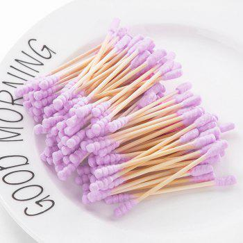 City Shop NCS078 Colorful Double-headed Cotton Swabs - PURPLE