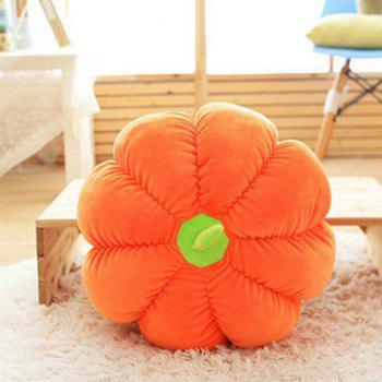 Pumpkin Style Plush Toy Throw Pillow - ORANGE 17 INCH