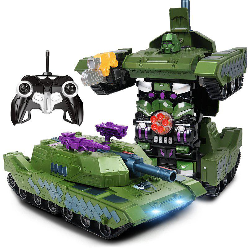 Gougoushou Transformation Tank Charging Type Remote Control Car - COLORMIX