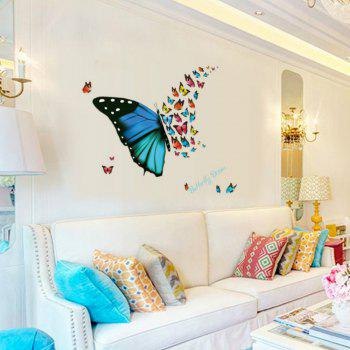 3D Butterfly Wallpaper for Living Room Home Decoration - COLOUR
