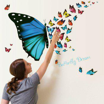 3D Butterfly Wallpaper for Living Room Home Decoration - COLOUR COLOUR