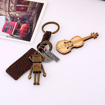Retro Robot Leather Moven Fabric Keychain Rings Perfect Gifts Souvenirs -  GOLDEN