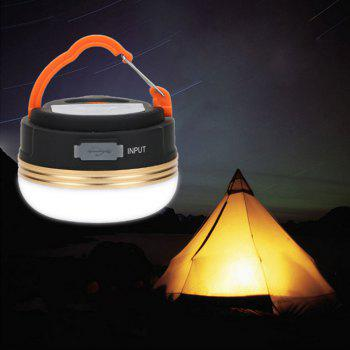 BRELONG  Camping Lights Emergency USB Charge Mobile Power - BLACK BLACK