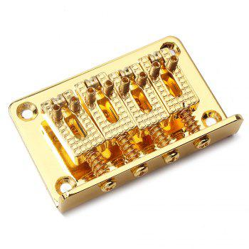 4 String Bridge for Cigar Box Guitar or Electric Ukulele - GOLDEN