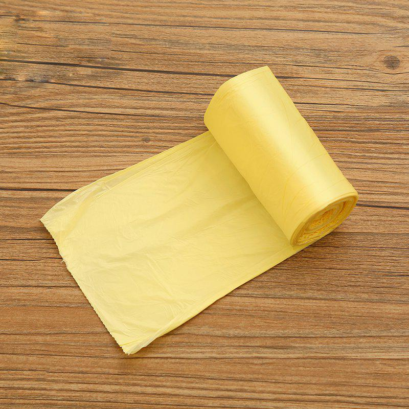 Plastic Thickened Solid Color Garbage Bag 5 Volumes - YELLOW