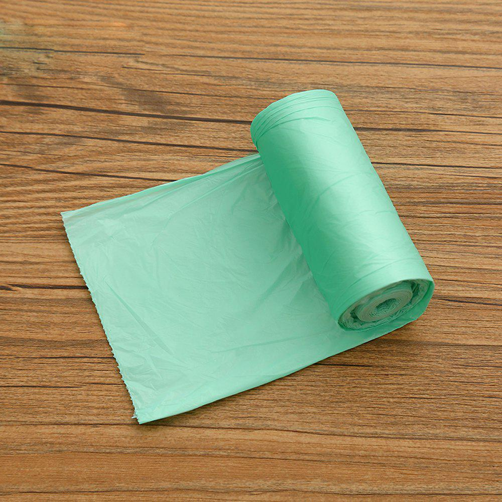 Plastic Thickened Solid Color Garbage Bag 5 Volumes - GREEN