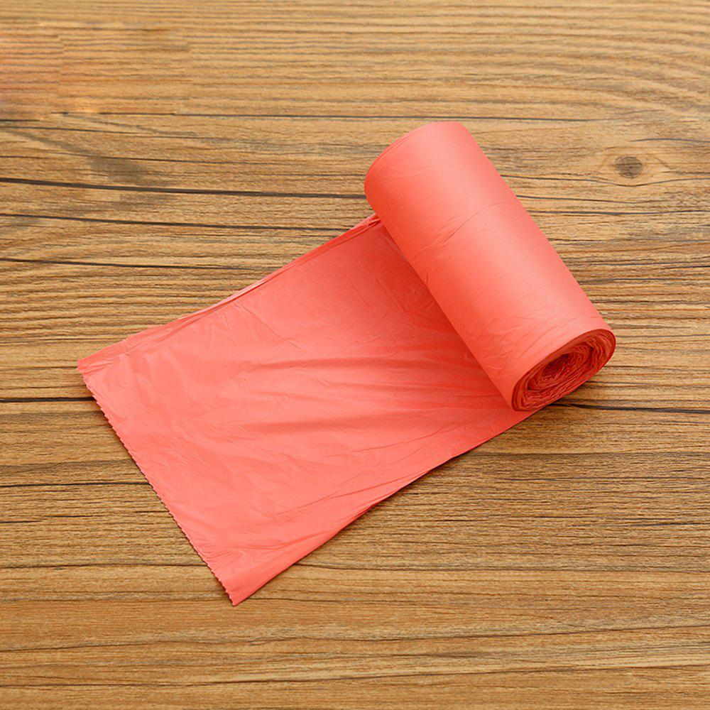 Plastic Thickened Solid Color Garbage Bag 5 Volumes - RED