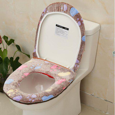 Plush Two-piece Toilet Seat Cover - BROWNIE