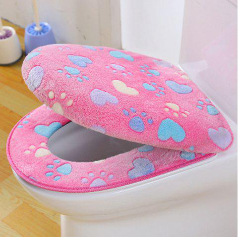 Two-piece Zipper Waterproof Toilet Seat Cover - PINK
