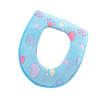 Two-piece Zipper Waterproof Toilet Seat Cover - BLUE