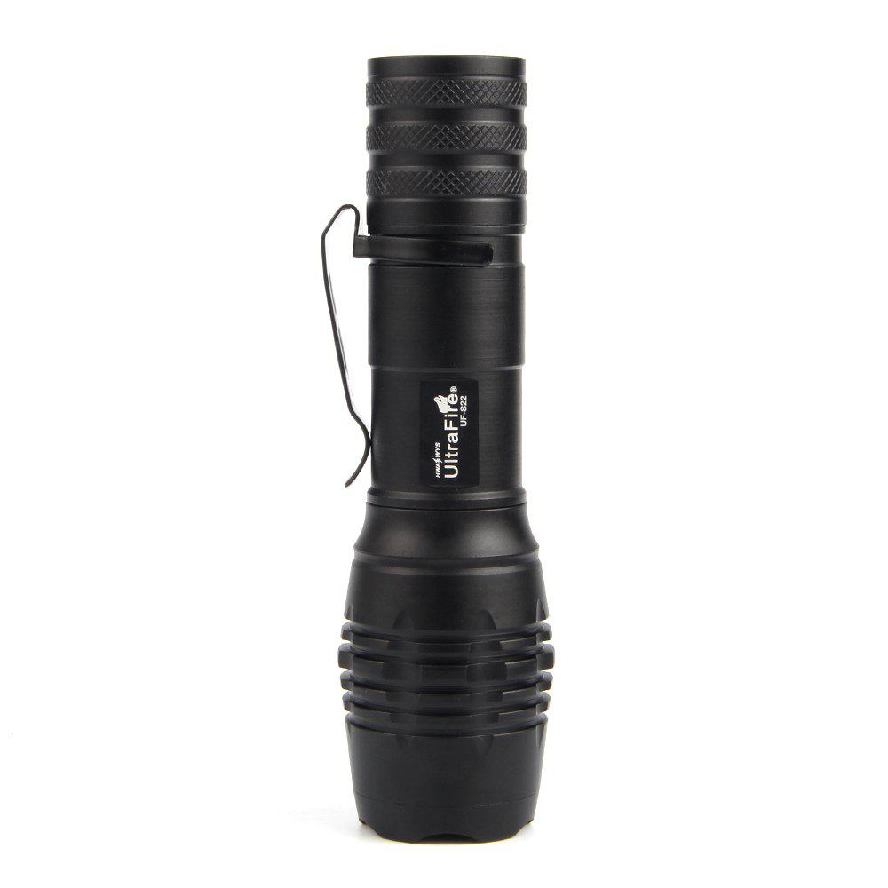 UltraFire UF-S22 XML-T6 680LM 5-Position Telescopic Focusing Flashlight - BLACK
