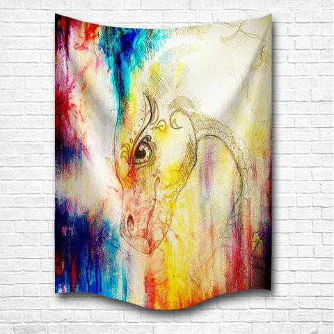 The Dragon 3D Digital Printing Home Wall Hanging Nature Art Fabric Tapestry for Bedroom Living Room Decorations - multicolor W153CMXL130CM