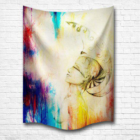 Blessing 3D Digital Printing Home Wall Hanging Nature Art Fabric Tapestry for Bedroom Living Room Decorations - COLORMIX W153CMXL130CM