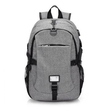 Canvas Shoulder Bag High-Capacity Computer Bag - GRAY GRAY