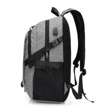 Canvas Shoulder Bag High-Capacity Computer Bag -  GRAY