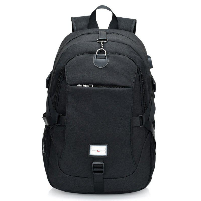 Canvas Shoulder Bag High-Capacity Computer Bag - BLACK