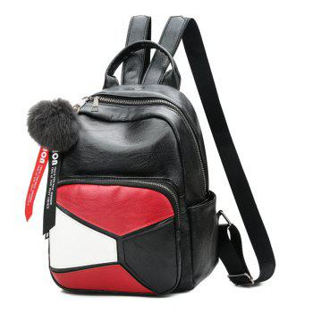 Backpack Wild Soft Leather High-Capacity Travel Bag - RED