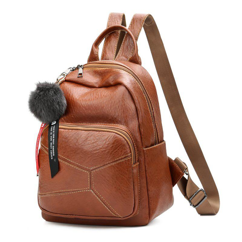 Backpack Wild Soft Leather High-Capacity Travel Bag - BROWN