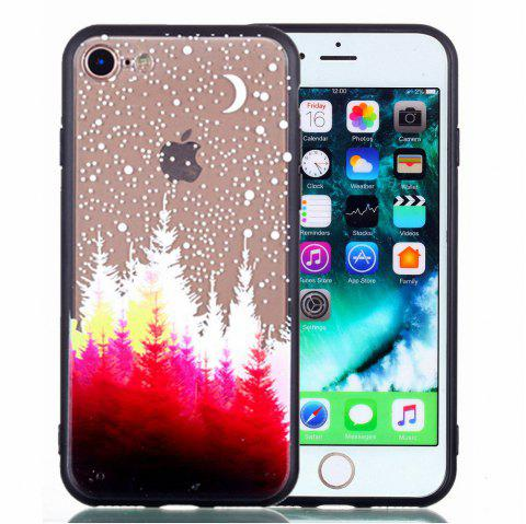 For iPhone 8 Phone Case Embossed Protective Cover - RED