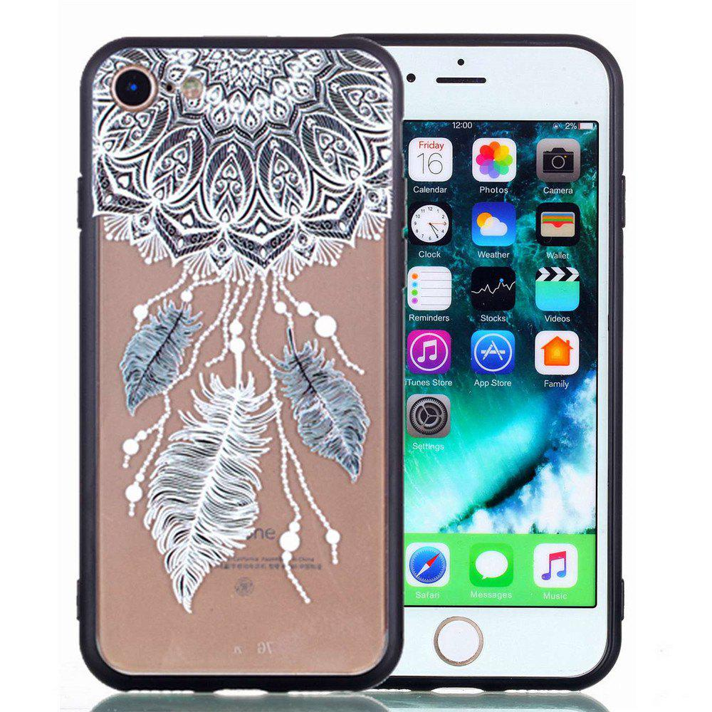 For iPhone 8 Phone Case Embossed Protective Cover - GRAY
