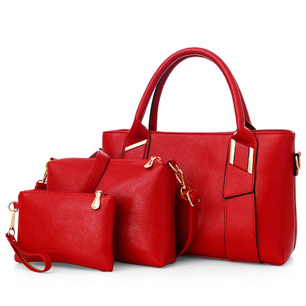 Sac à main Messenger Fashion grande capacité sac occasionnel - Rouge