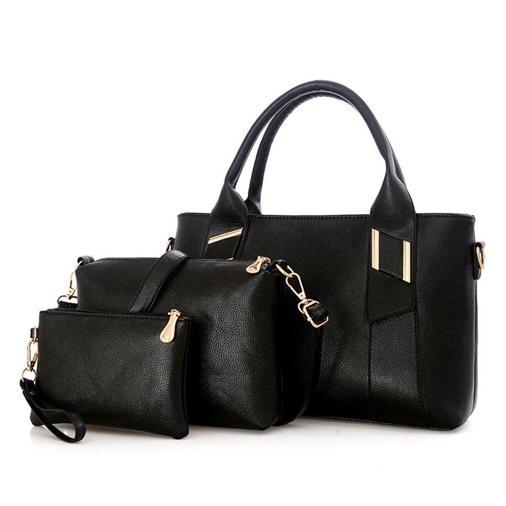 Handbag Messenger Fashion Large Capacity Casual Bag - BLACK