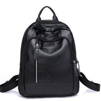 Shoulders All-match Fashion Outdoor Bag Simple Personality - BLACK BLACK