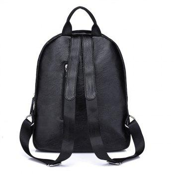 Shoulders All-match Fashion Outdoor Bag Simple Personality -  BLACK