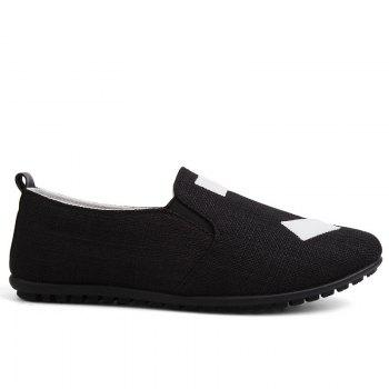 The New Men'S Simple Lightweight Solid Color with Peas Shoes - BLACK BLACK