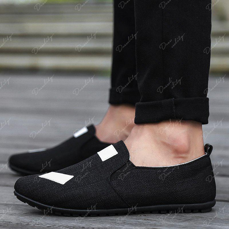 The New Men'S Simple Lightweight Solid Color with Peas Shoes - BLACK 43