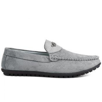 New Casual Lightweight Solid Color Peas Shoes - GRAY GRAY