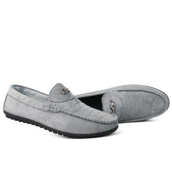 New Casual Lightweight Solid Color Peas Shoes - GRAY 39