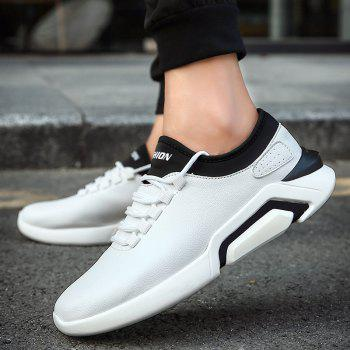 New Lightweight Spring and Autumn Casual Sports Shoes - WHITE 44